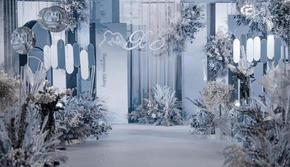 蓝海婚礼【1w+高级雾霾蓝色调适合小厅】