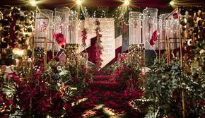 【喜堂婚礼】红金质感婚礼【主题鲜花】+四大金刚