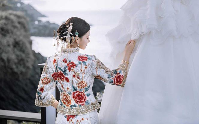 【3周年店庆】清新淡雅金色系进口印度丝马来服中式