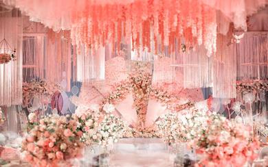 好时.粉色梦幻大气唯美大吊顶婚礼案例