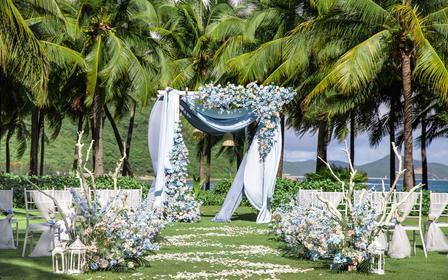 10人一站全包小型海岛婚礼