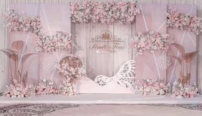 【禧禾婚礼】室内粉色简约小清新婚礼 一价全包