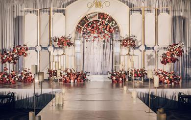 【一禧婚礼策划】红金色 现代 简约风 婚礼