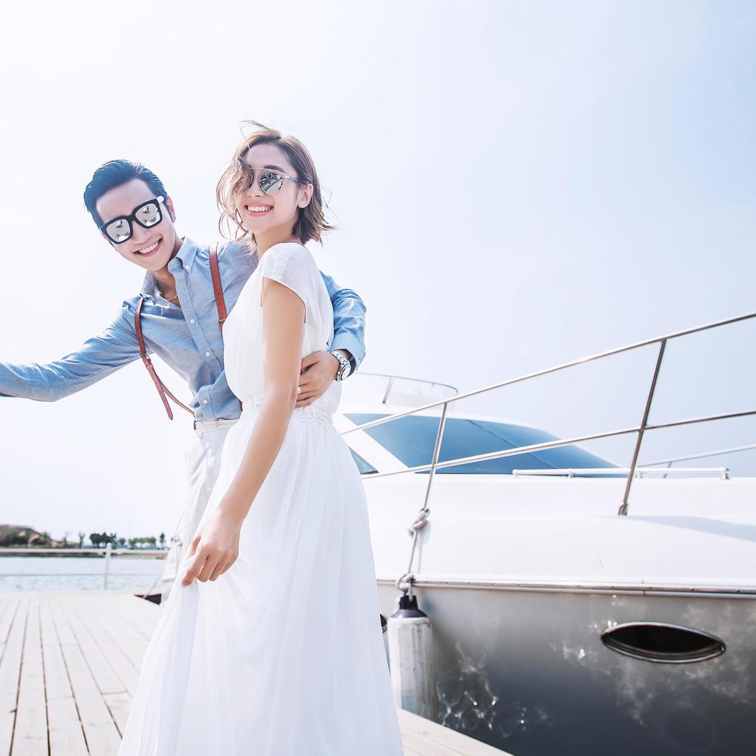 【青岛】豪华游艇浪漫风情+团队升级+底片全送