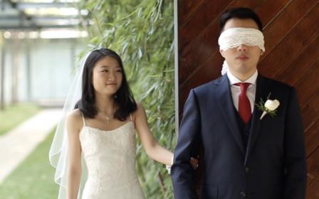 最浪漫的婚礼first look