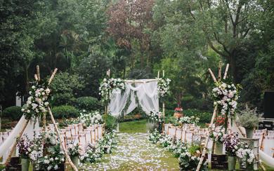 户外小清新婚礼-一场清新而复古的美式花园婚礼