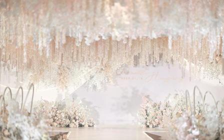【伯妮】优惠专享 纯白色简约泰式浪漫婚礼 满顶