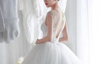 【IU】手工定制主婚纱+晚礼服