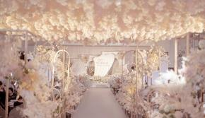 香槟粉礼堂高端婚礼(含司仪化妆摄像摄影)