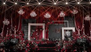 【阿兰高端婚礼定制】大气红黑华丽主题婚礼