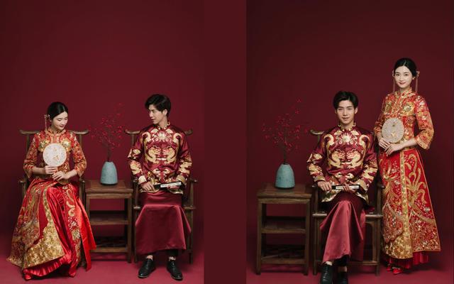 喜庆中式秀禾服室内棚拍客照