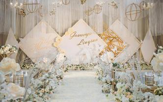 【含四大金刚】人气爆款小清新室内婚礼-淡淡的幸福
