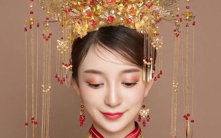 小妮美妆新娘化妆跟妆早妆/秀禾/现代妆+送伴娘妆