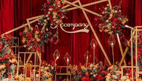 【热爱】热销经典红金色婚礼