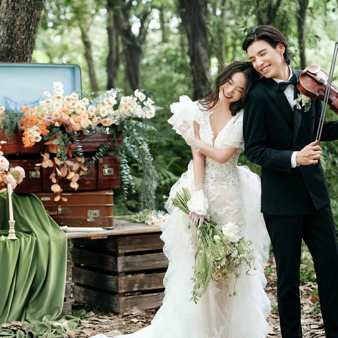 文艺浪漫森系—含八套服装—婚纱照必拍系列