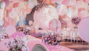 DNA |【上海世博洲际】粉色圆唯美小清新婚礼