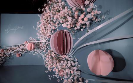 麦瑞婚礼|高级蓝灰粉色婚礼