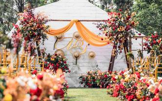 【初夏】慕马婚礼,美式田园,户外婚礼,红橙色系