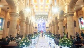 【格蕾希娅】暖色系教堂罗马柱风格大场景婚礼