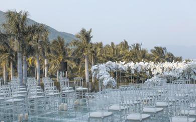 【三亚在四月海岛婚礼】户外水台婚礼