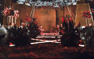 红黑西式简约----婚礼