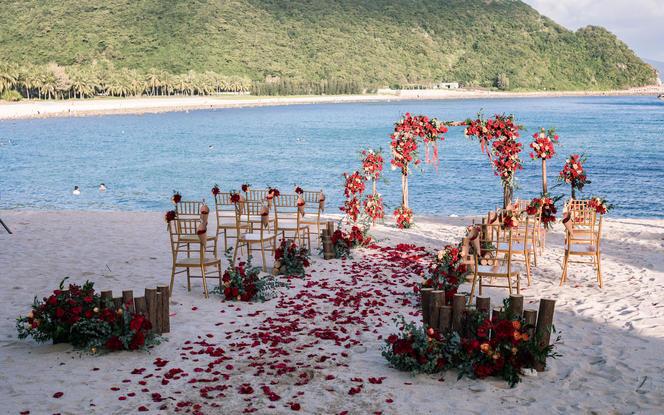 一价全包海边沙滩婚礼套餐-精致浪漫