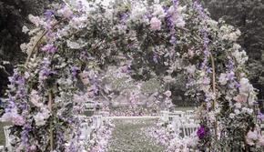 长春麦瑞蜜婚礼 紫粉白色户外清新婚礼