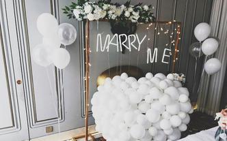 求婚布置创意布置私人定制告白气球