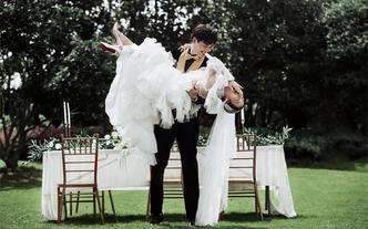 杭州网红婚纱拍摄地+一对一+送全新婚纱一件