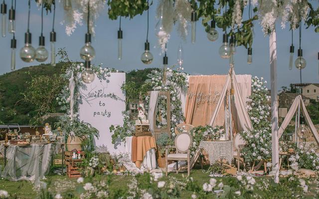 【喜上婚礼】白绿清新户外婚礼