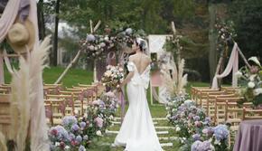 《一生挚爱婚礼》{全鲜花} 莫兰迪色系 户外草坪