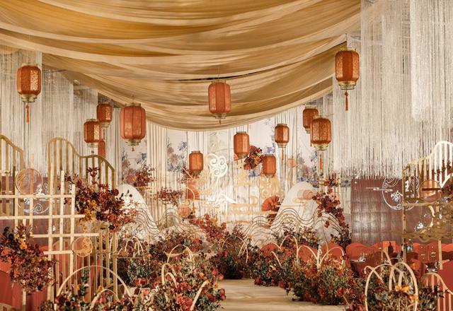 星元素婚礼·香槟色古典中式婚礼