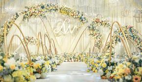 """#吉美婚礼#黄白色主题婚礼""""时光纪"""""""