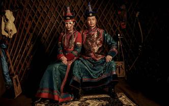 豪华版蒙古袍元素+婚纱#六造六服高定