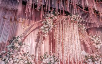 海口室内粉色浪漫婚礼布置超值套餐仅需6660元