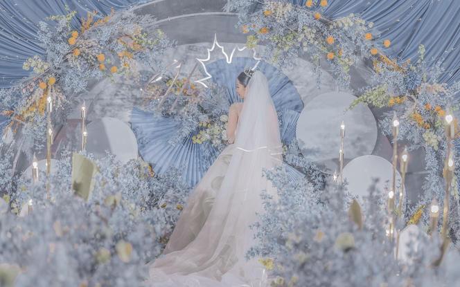 伯妮婚礼   雾霾蓝超浪漫创意欧式婚礼