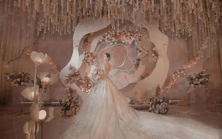 【安东妮】超级好看的香槟粉梦幻婚礼