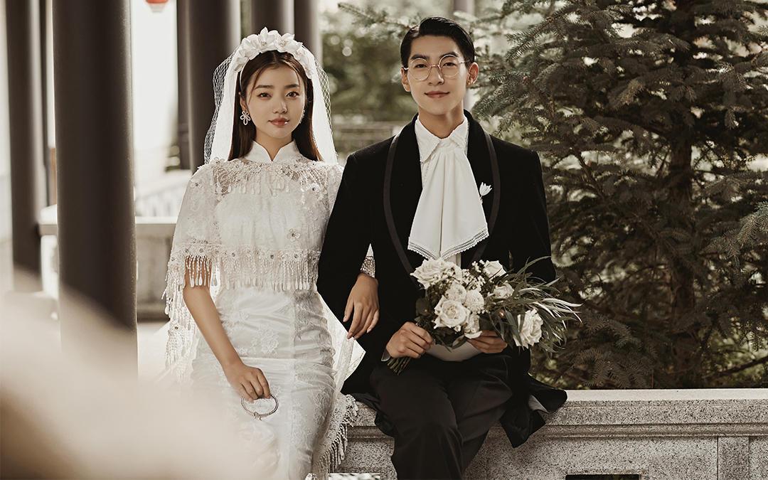 【人气新品】小资经典款内景+双外景婚纱照版权全送