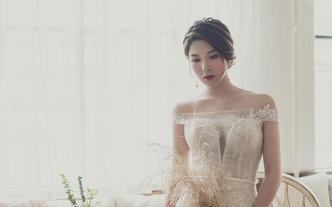【女神爆款】高定婚纱+纯手工褂后+礼服