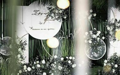 【三亚在四月海岛婚礼】白绿色主题