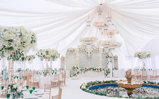 清新唯美的白绿色系婚礼