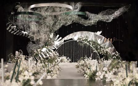 飞凌婚礼丨猫咪漫步,设计感满满小型婚礼