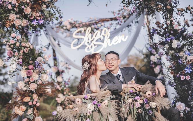 【米迪婚礼】《四季》—紫色户外温柔甜美婚礼