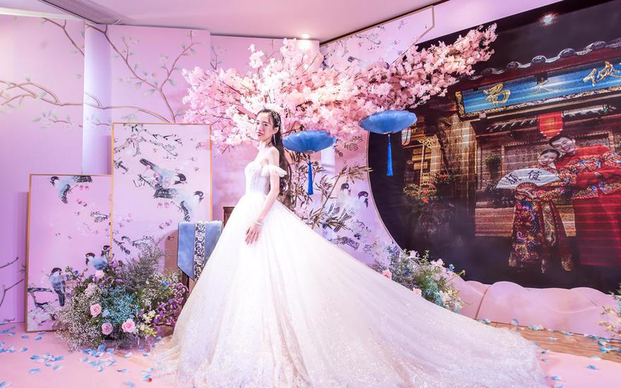 【花沐】粉色香槟金梦幻洛丽塔主题 / 新中式婚礼