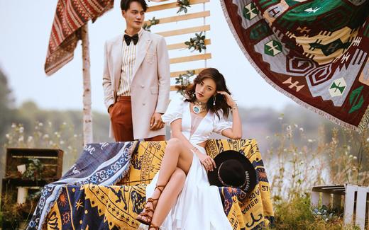 【左岸札记】小清新INS纪实户外韩式女王婚纱照