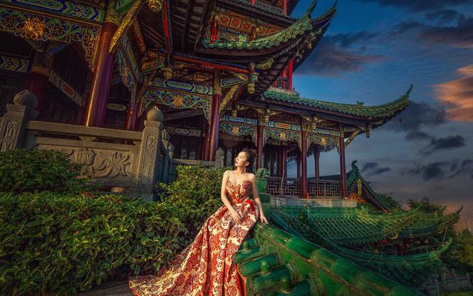 【中式夜景】#电影光效#独立灯光师#重庆婚纱照
