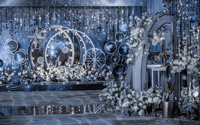 伯妮婚礼   浪漫星空系列 超浪漫蓝色主题婚礼