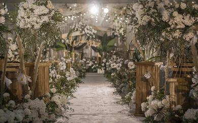 【一颗红豆】白绿色森系婚礼 唯美