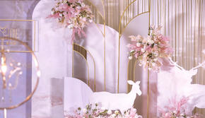 【花小姐】一鹿有你|温馨香槟|粉送婚纱礼服