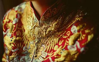 【中式嫁衣】立体手绣龙凤褂必备龙凤鞋套系单品